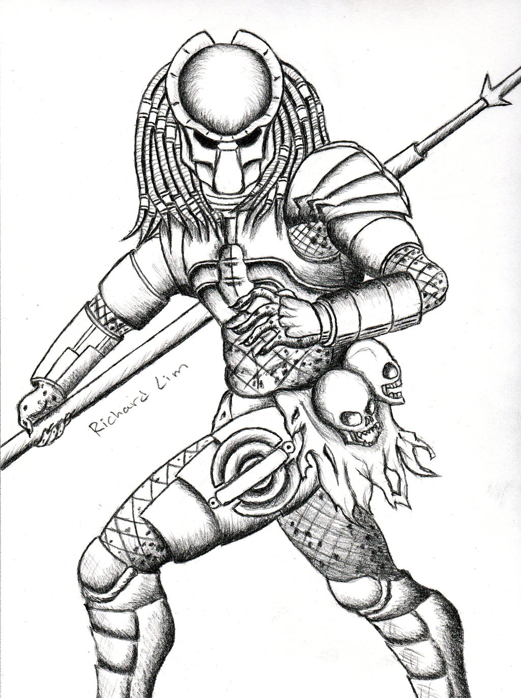 Drawn predator tracker Predator klejonka by Drawings Cool