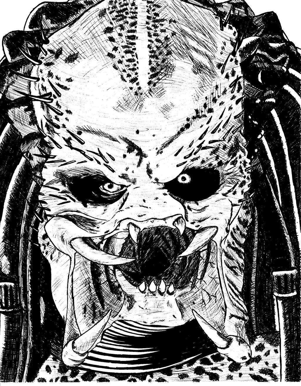 Drawn predator unmasked Unmasked DeviantArt Unmasked nightcat17 The