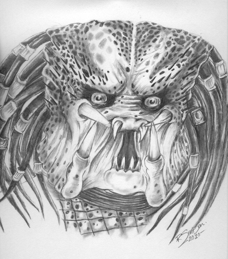 Drawn predator unmasked By X by rickster60 O