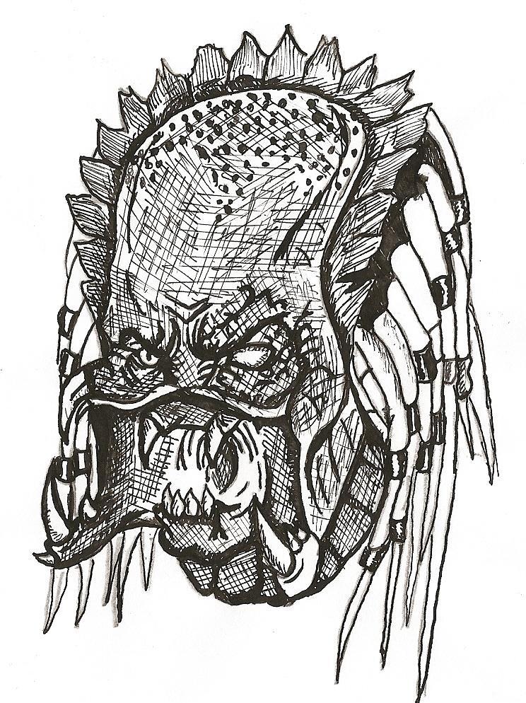 Drawn predator unmasked Unmasked Predator by predator Wolf
