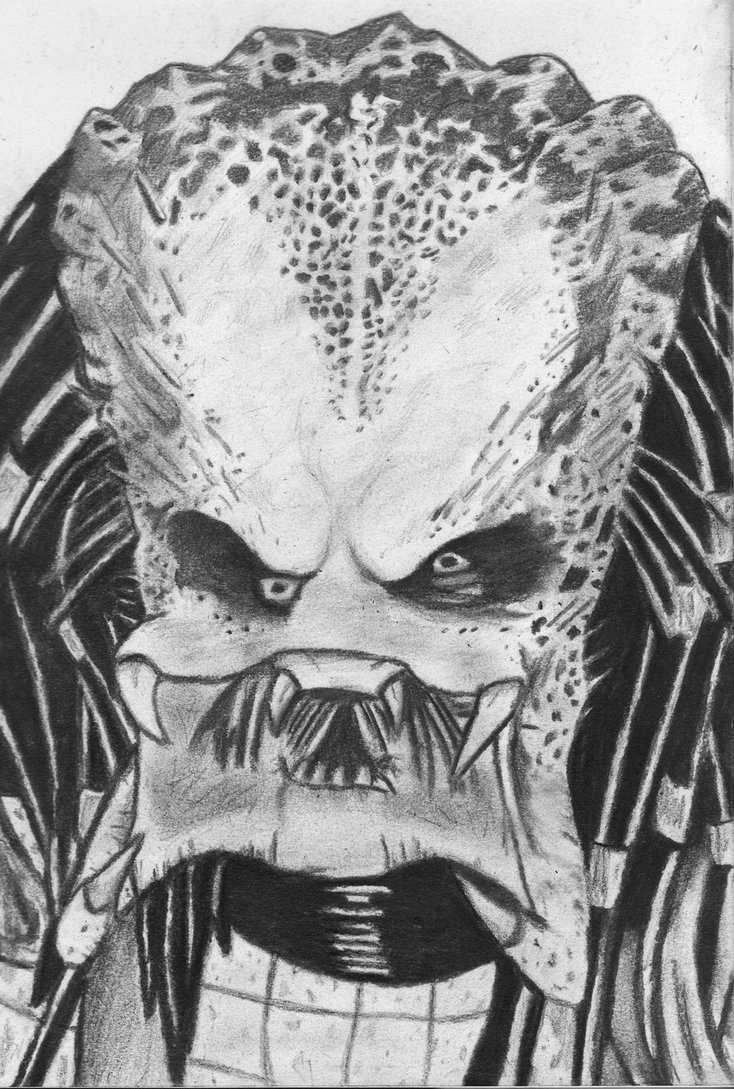 Drawn predator unmasked By NymphetamineSyndrome DeviantArt by Predator