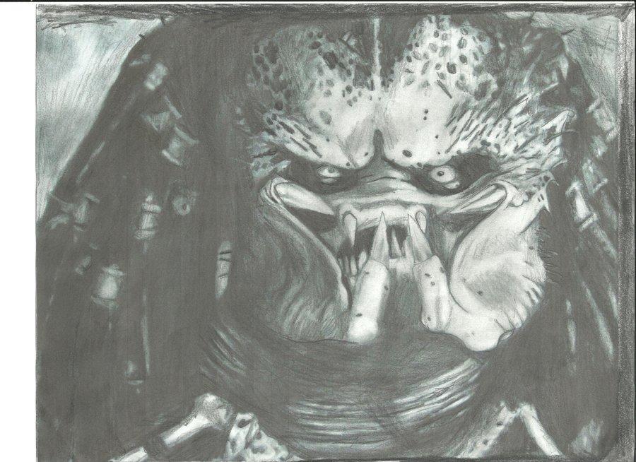 Drawn predator unmasked By MinerShock DeviantArt by Predator