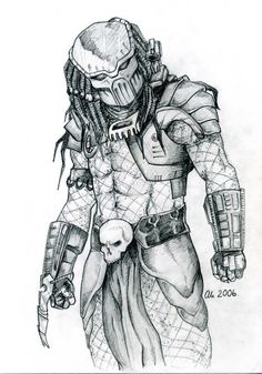Drawn predator war the world alien Alien FREE Draw Step