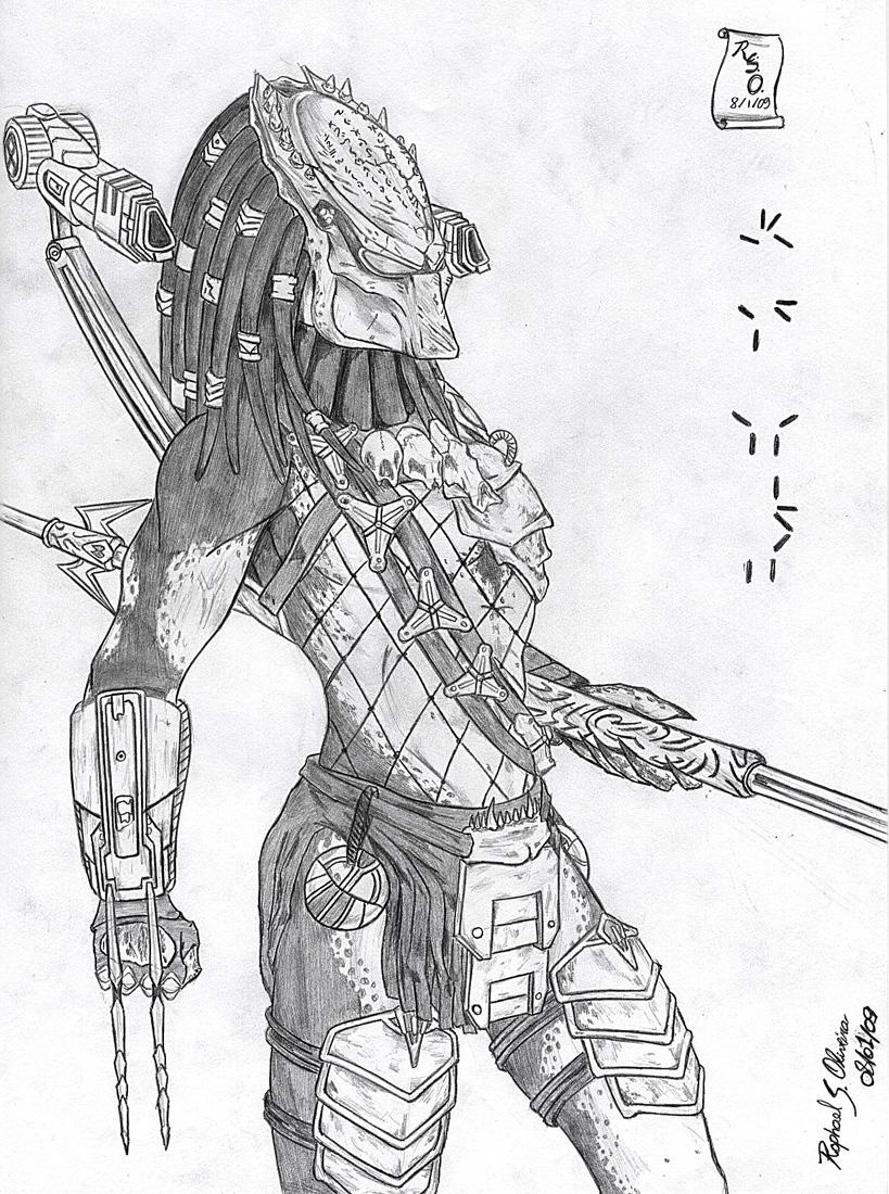 Drawn predator wolf ART on rraphall04 02 Wolf