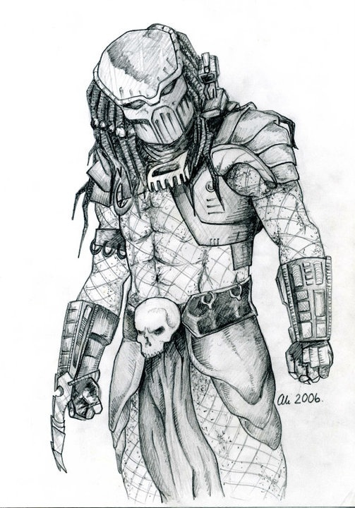 Drawn predator xenomorph 2006 drawing My drawing Predator