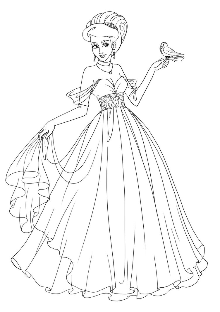 Drawn princess Lineart Lineart Tosca Tosca DeviantArt