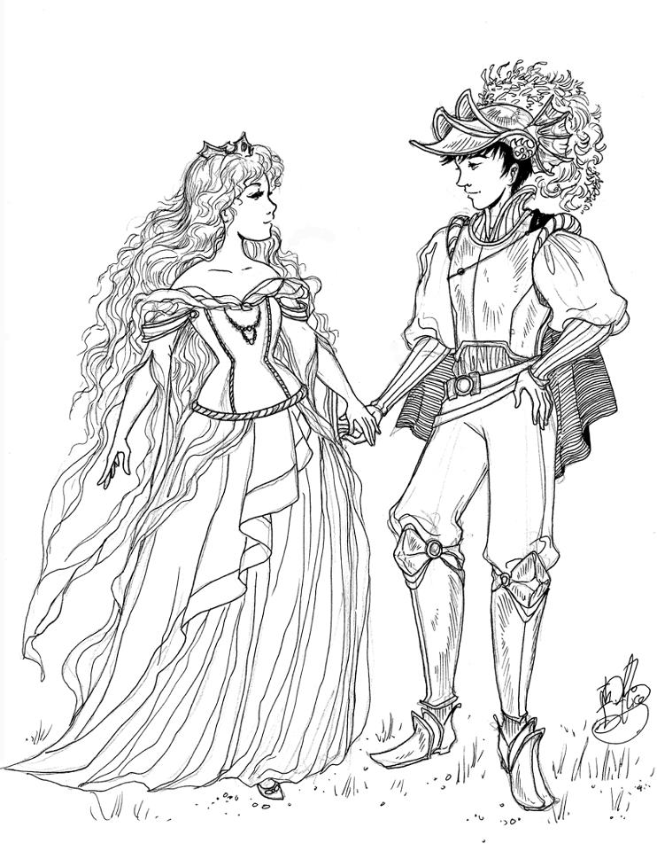Drawn princess Princess Pencil And Art Prince