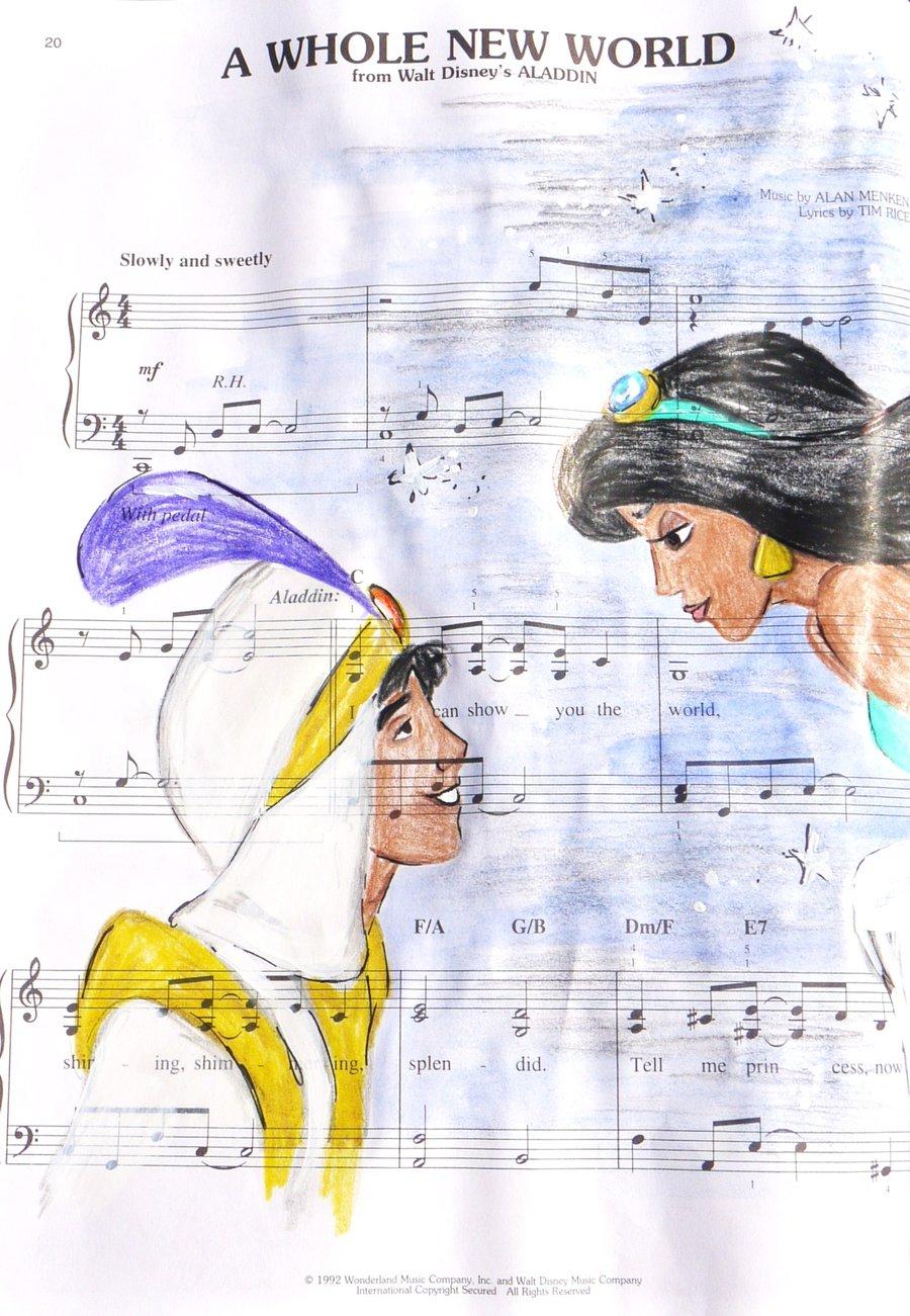 Drawn princess aladdin And Princesses and drawn on