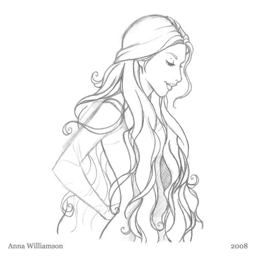 Drawn princess anime  to Draw to how