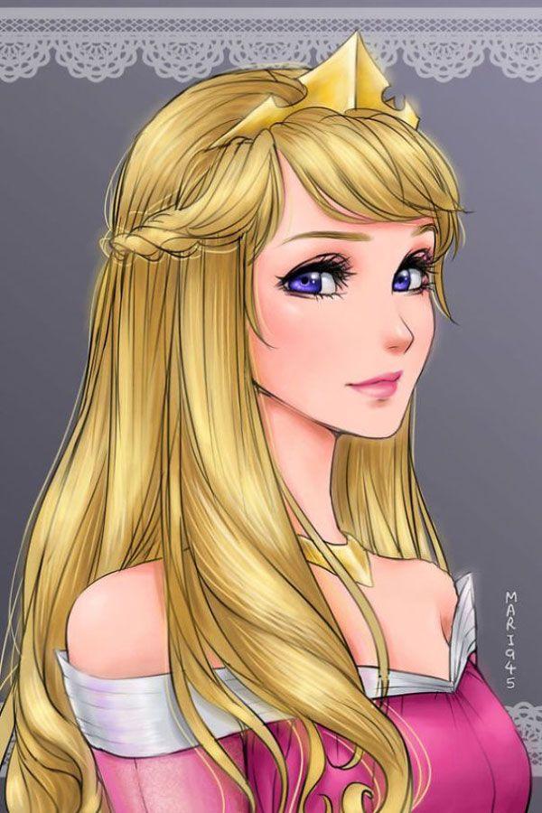 Drawn anime disney princess Aurora Pinterest Pretty Marvelous ideas