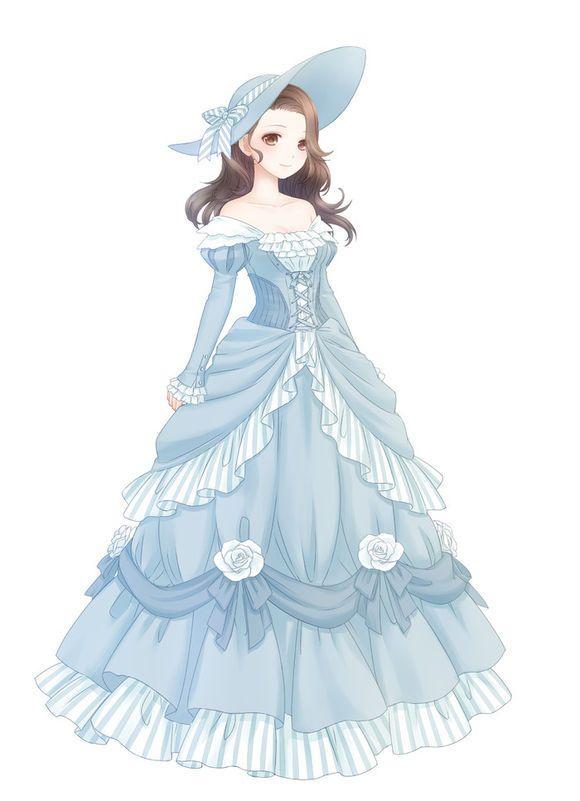 Drawn princess anime Anime belle lady Pinterest Southern
