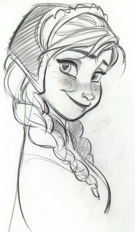 Drawn princess anna Draw think on for Frozen
