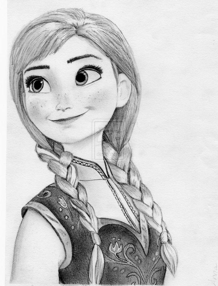 Drawn princess anna Julesrizz Disney's Pinterest com Anna