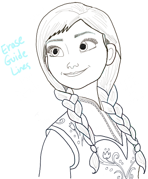 Drawn princess anna From Draw Frozen Step How