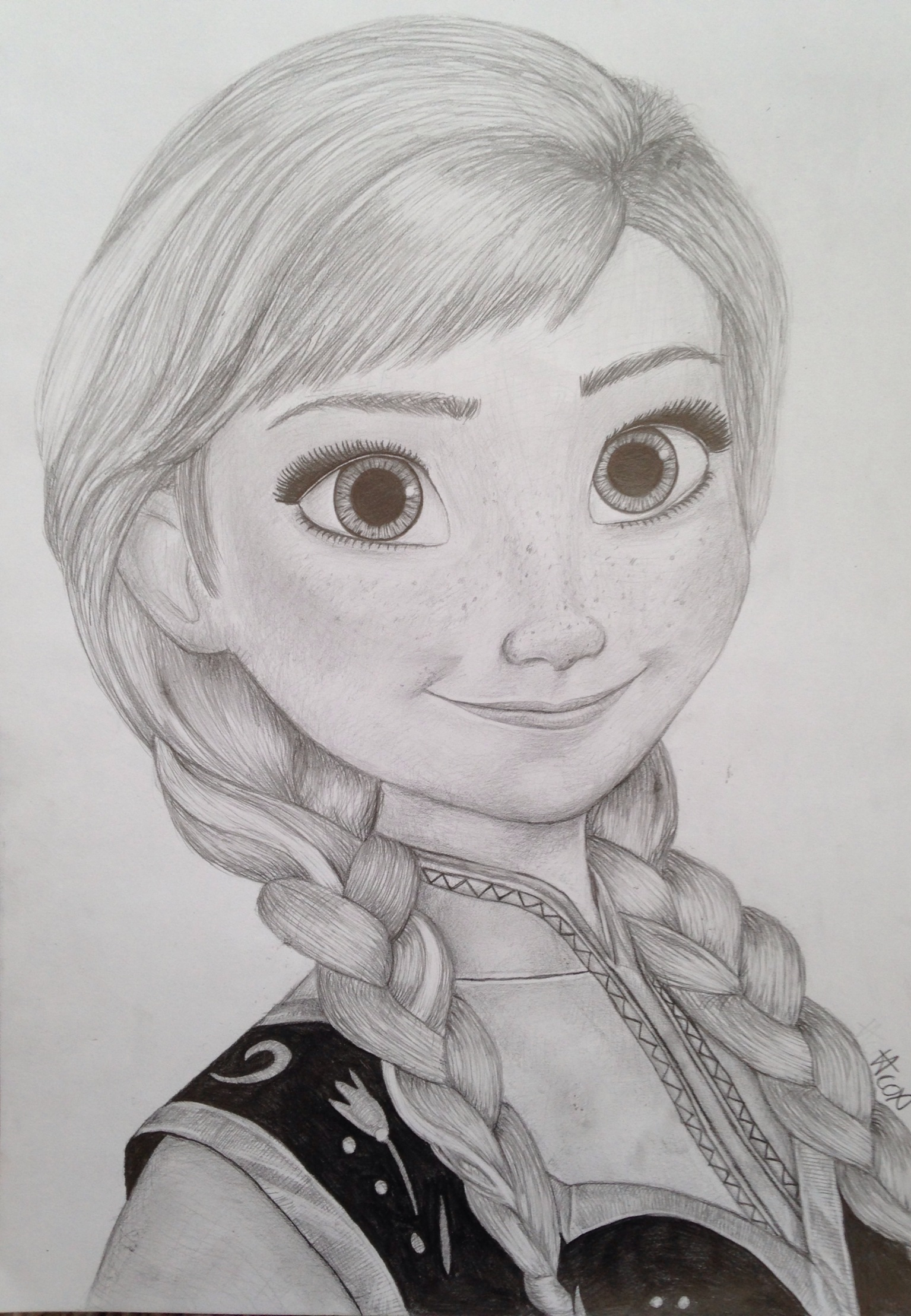 Drawn princess anna Frozen anna princess My Art