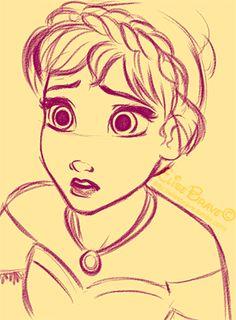 Drawn princess anna Princess Frozen Disney Anna Photo: