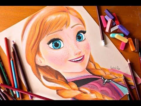 Drawn princess anna ART ANNA PRINCESS Drawing: YouTube