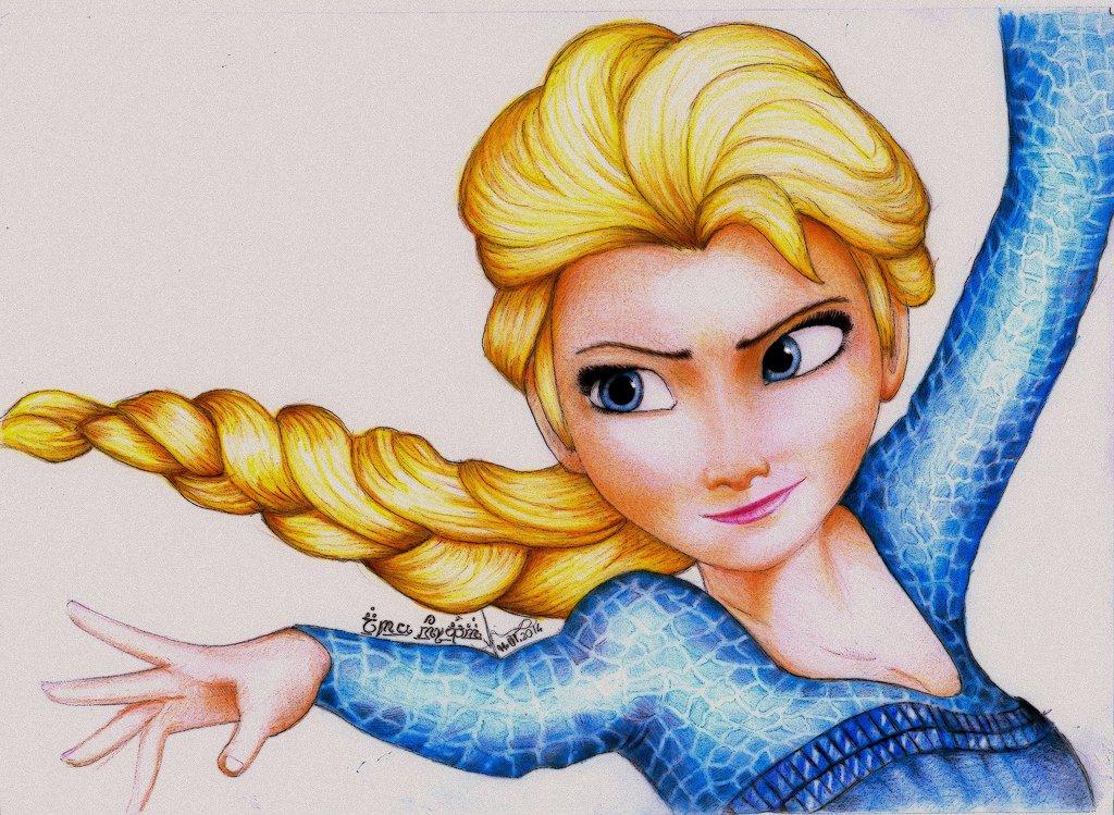 Drawn princess anna frozen Elsa Frozen  princess_elsa_from_frozen_by_amandabloom d71v9cr