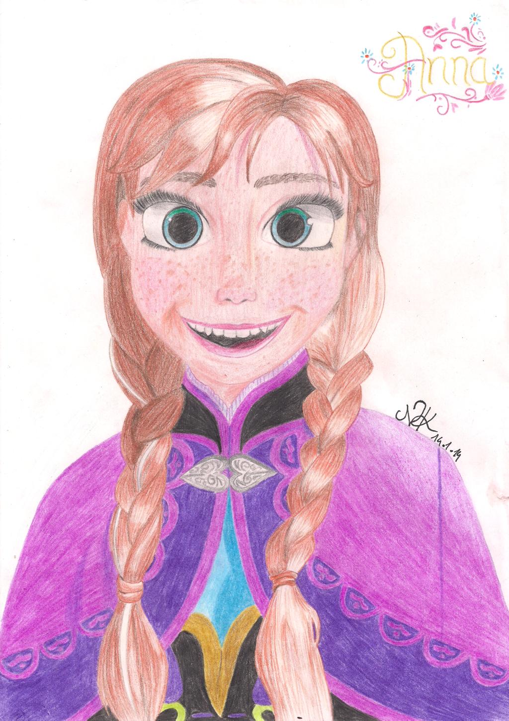 Drawn princess anna frozen Princess xNiciCupcake Frozen from Anna