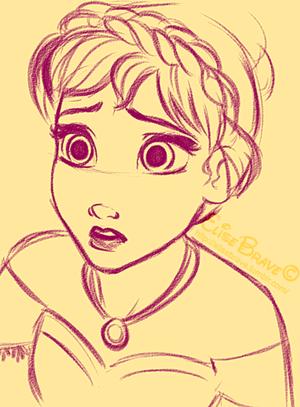 Drawn princess anna frozen Anna DESIGN down (https CHARACTER