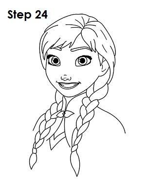 Drawn princess anna frozen Draw (Frozen) 24 How Anna