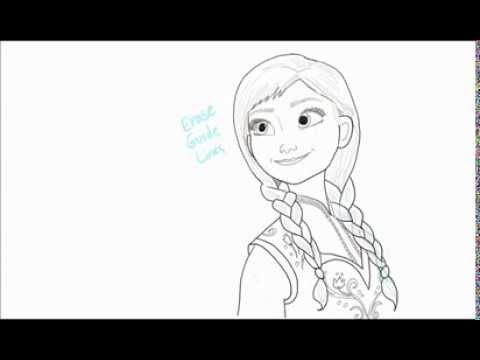 Drawn princess anna frozen  Draw Anna YouTube How