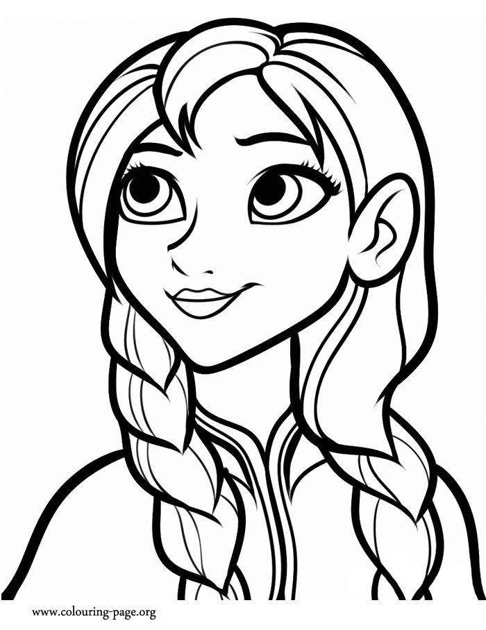 Drawn princess anna frozen Meet coloring 25+ family! beautiful