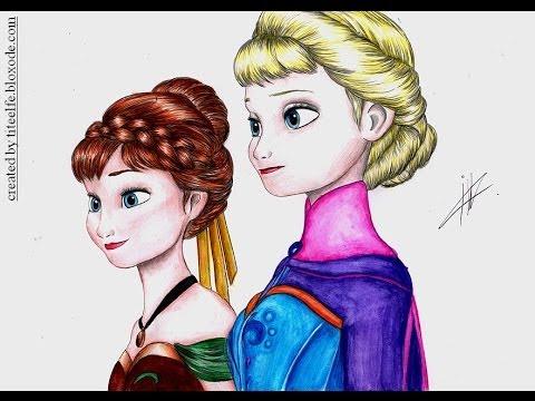 Drawn princess anna frozen Anna Fanpop Elsa's coronation video
