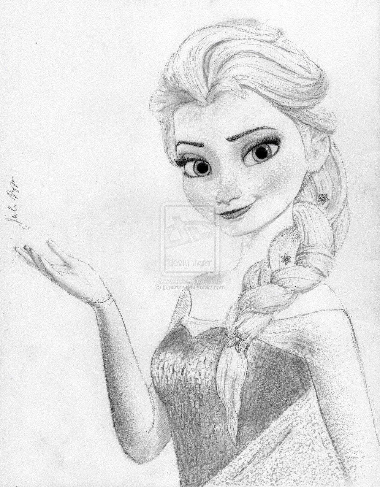 Drawn princess anna frozen Elsa Coronation Frozen on Pencil