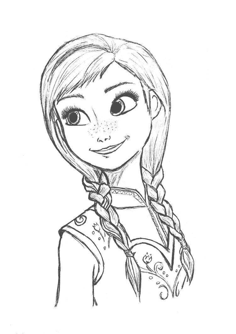 Drawn princess anna frozen Princess_anna_by_queenundy sketch Sketch movie Frozen