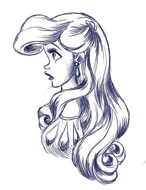 Drawn princess ariel Best Disney figures other stick