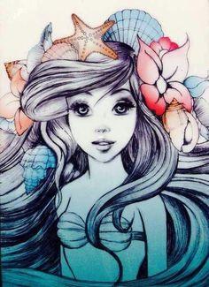 Drawn princess ariel S she done Disney's Little