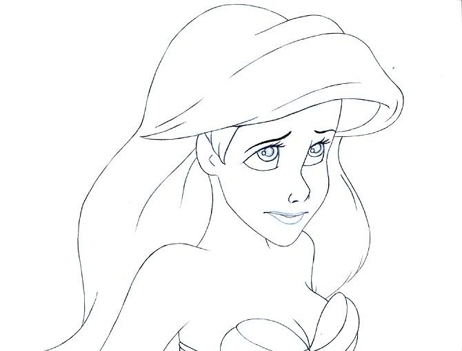 Drawn princess ariel Disney jpg Pinterest Coloring arielbest2_US110