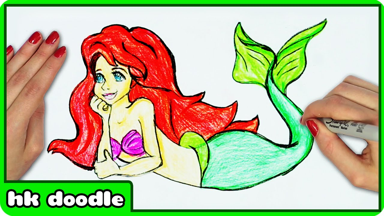 Drawn princess ariel The Step Easy Little from