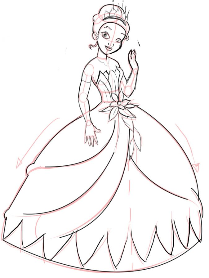 Drawn princess beautiful princess Drawing on How The 04