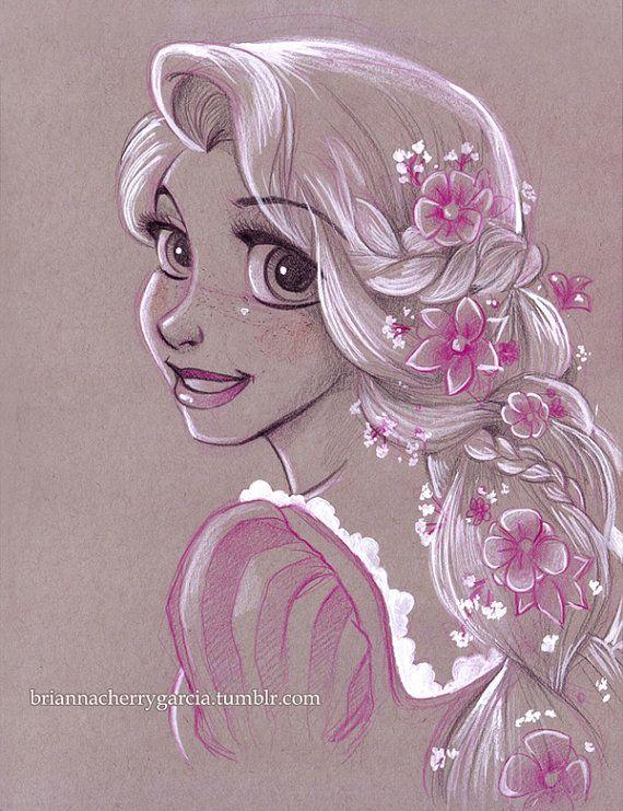 Drawn princess beautiful princess Best Not the Art Rapunzel