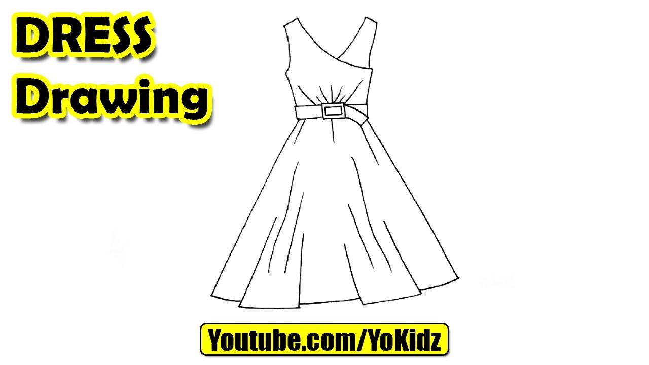Drawn princess beginner Dress How draw easy kids