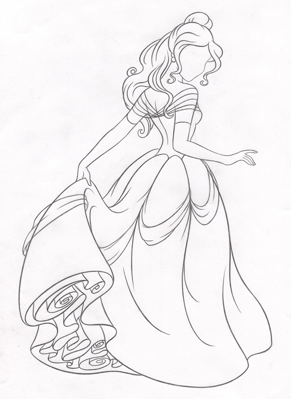 Drawn princess belle New Style on Art Princess