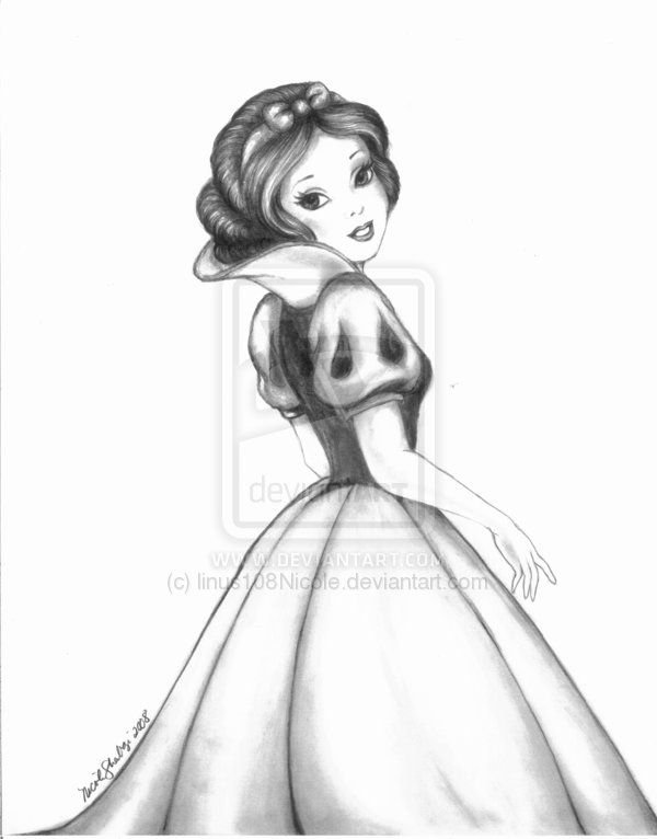 Drawn princess black and white 16 by on linus108Nicole] [©2013