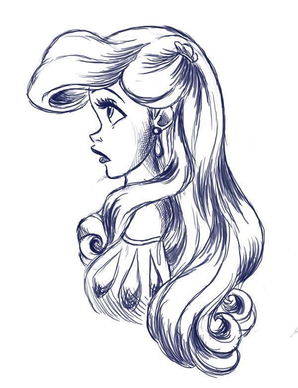 Drawn princess character sketch 3147 Disney more on Pinterest
