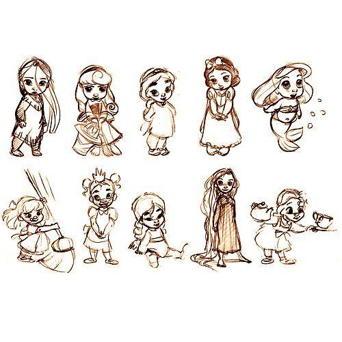 Drawn princess character sketch 56 on disney more characters