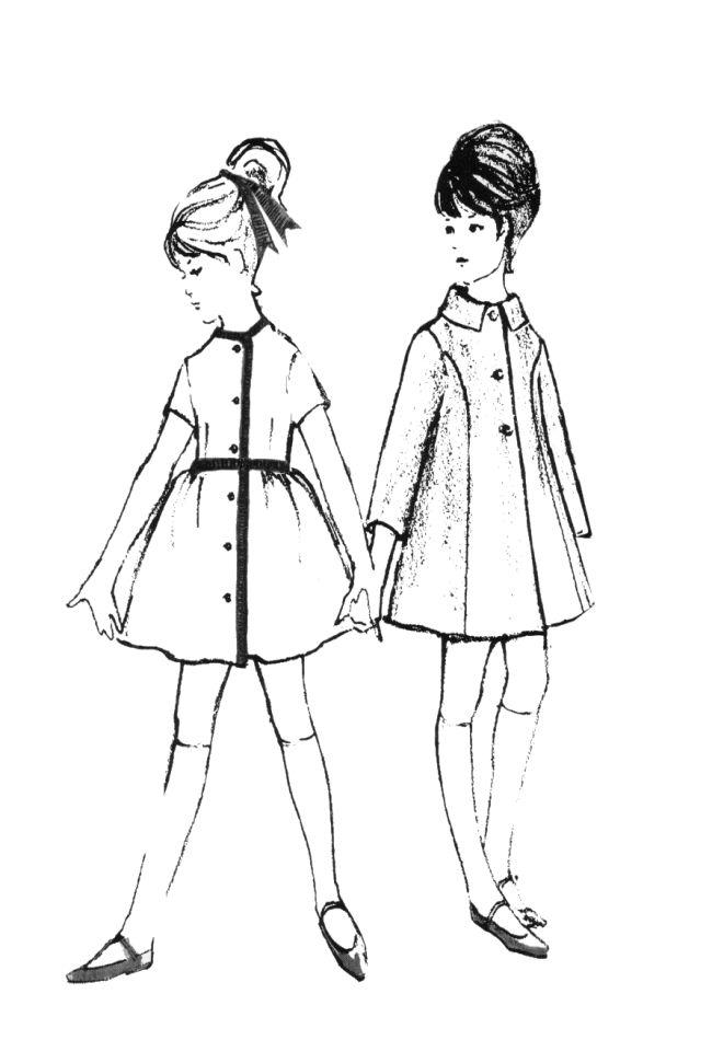 Drawn princess children's Line had much shorter skirts