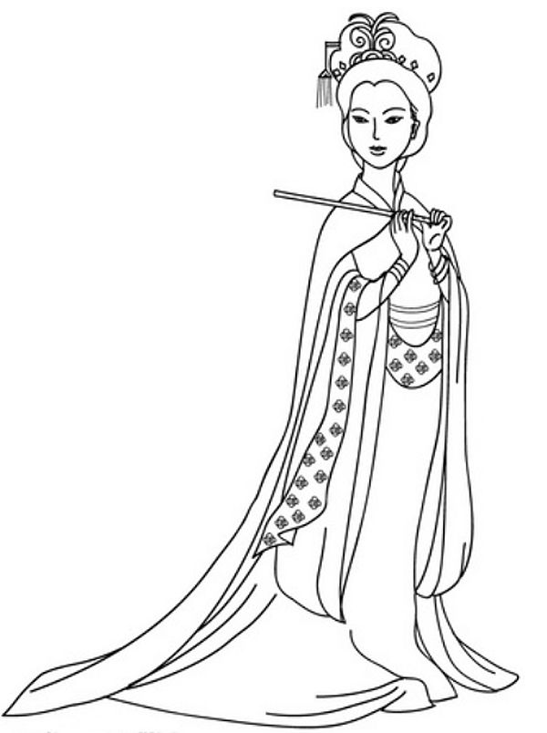 Drawn princess chinese princess Chinese best pages about Pinterest