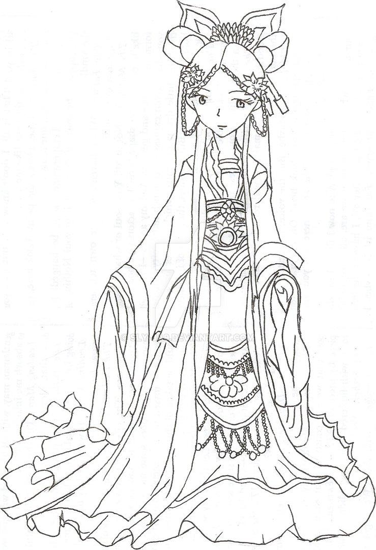 Drawn princess chinese princess Ja9 DeviantArt by sly sly