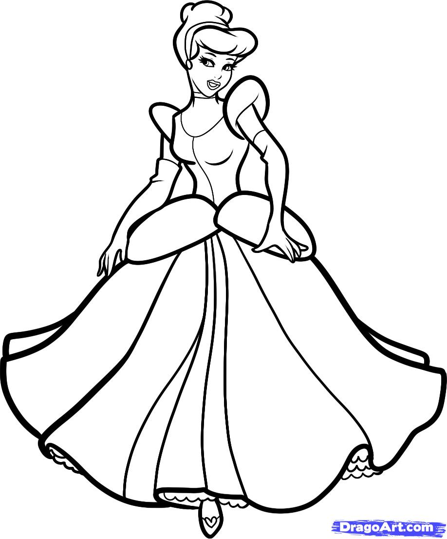 Drawn princess cinderella How by Step to Princesses