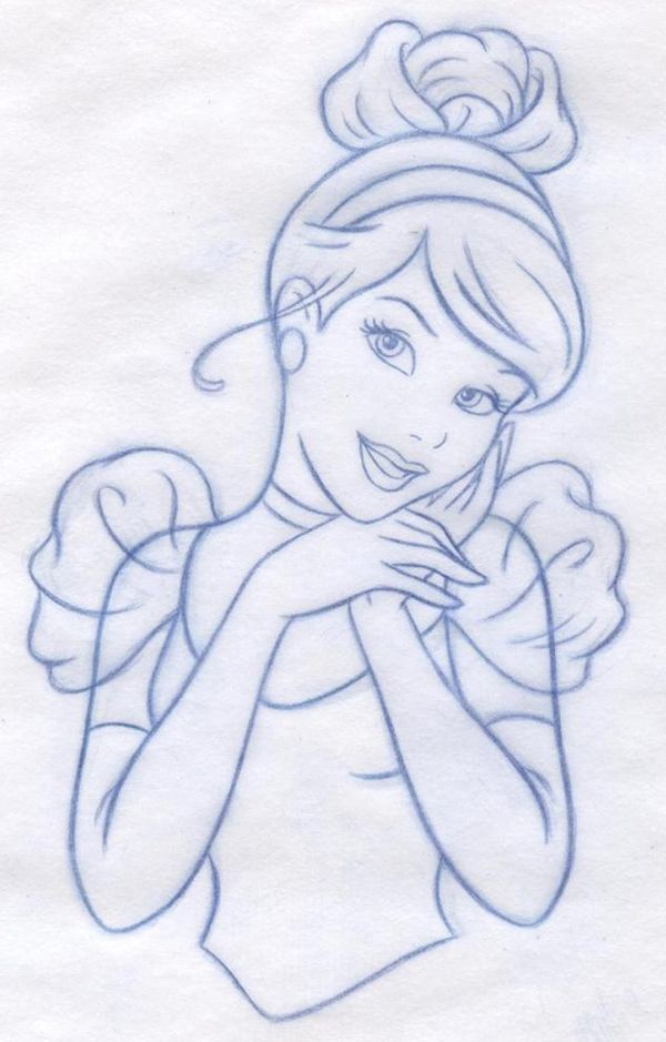 Drawn princess cinderella Drawing Art best Behance Cinderella