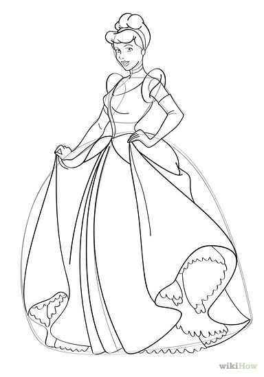 Drawn princess cinderella Princess Cinderella To Pages Full