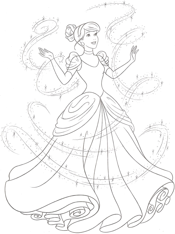 Drawn princess cinderella Line redesign Style Style Art