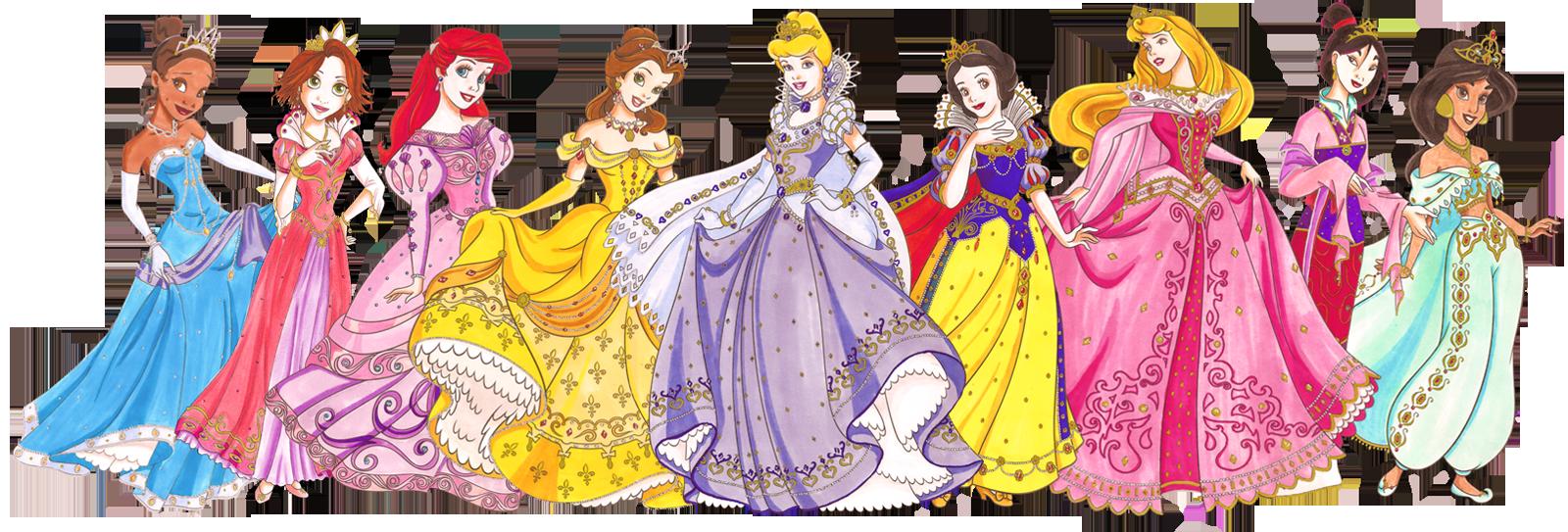 Drawn princess collage Princesses Princesses  Clipart Drawn
