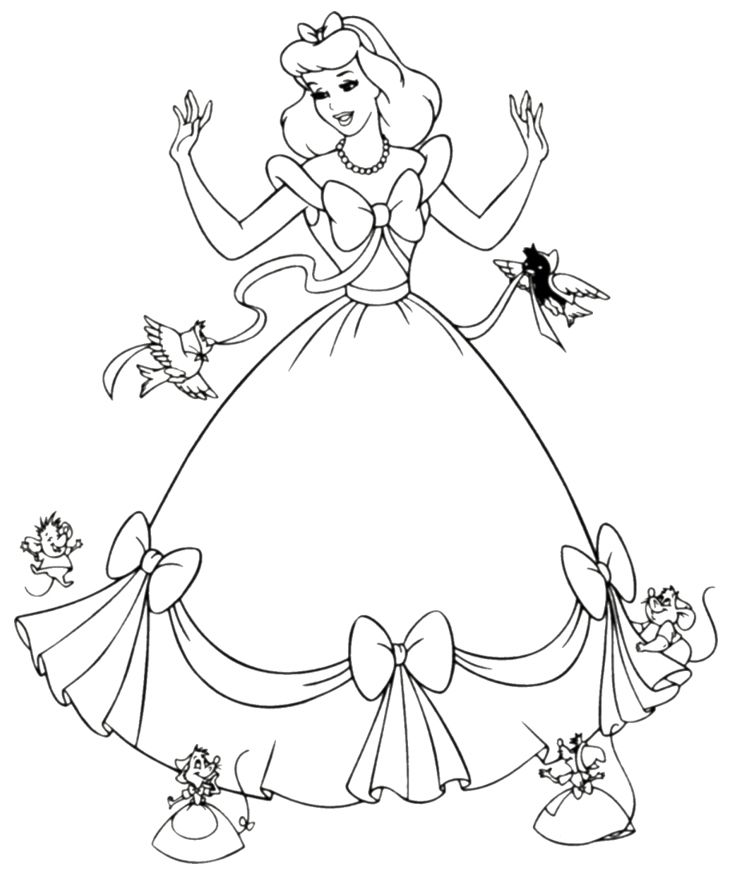 Drawn princess color Pages Pinterest 182 Printable Coloring